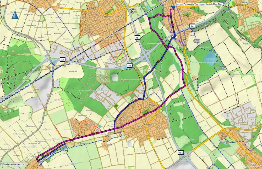 veedel tour horrem basecamp karte route track