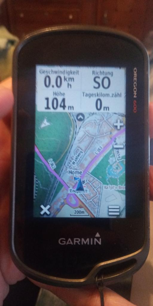 Garmin Oregon 600 Navigation Track