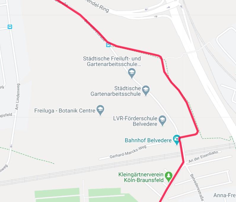 #garmin #connect #karte #umfahrung #belvederestraße durch den Wald