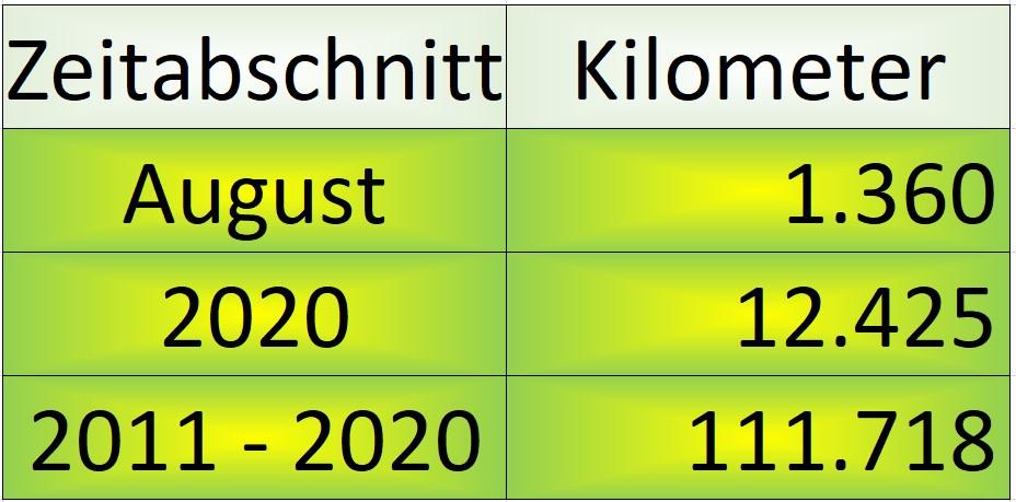 Monatsabschluss August 2020 Monat Jahr Gesamt