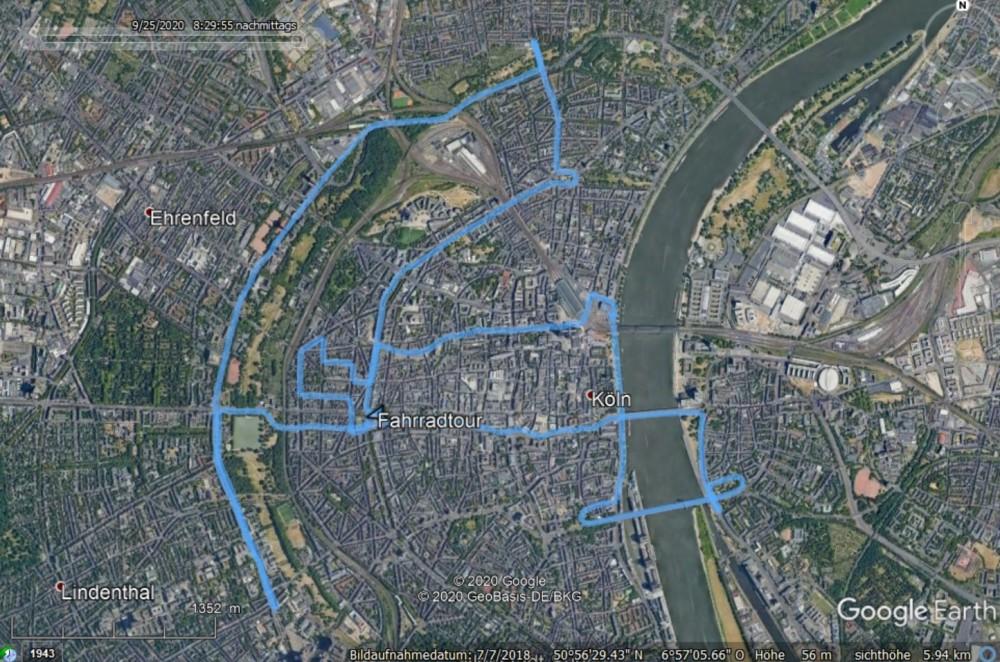 Critical Mass Köln, Köln, Deutzer Brücke, Severinsbrücke, Polizei, Google Earth