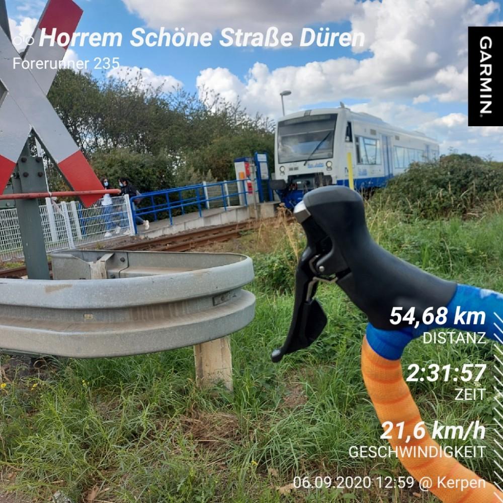 Garmin Ruhrtalbahn Sonntagsfahrt Düren Stevens Rennrad