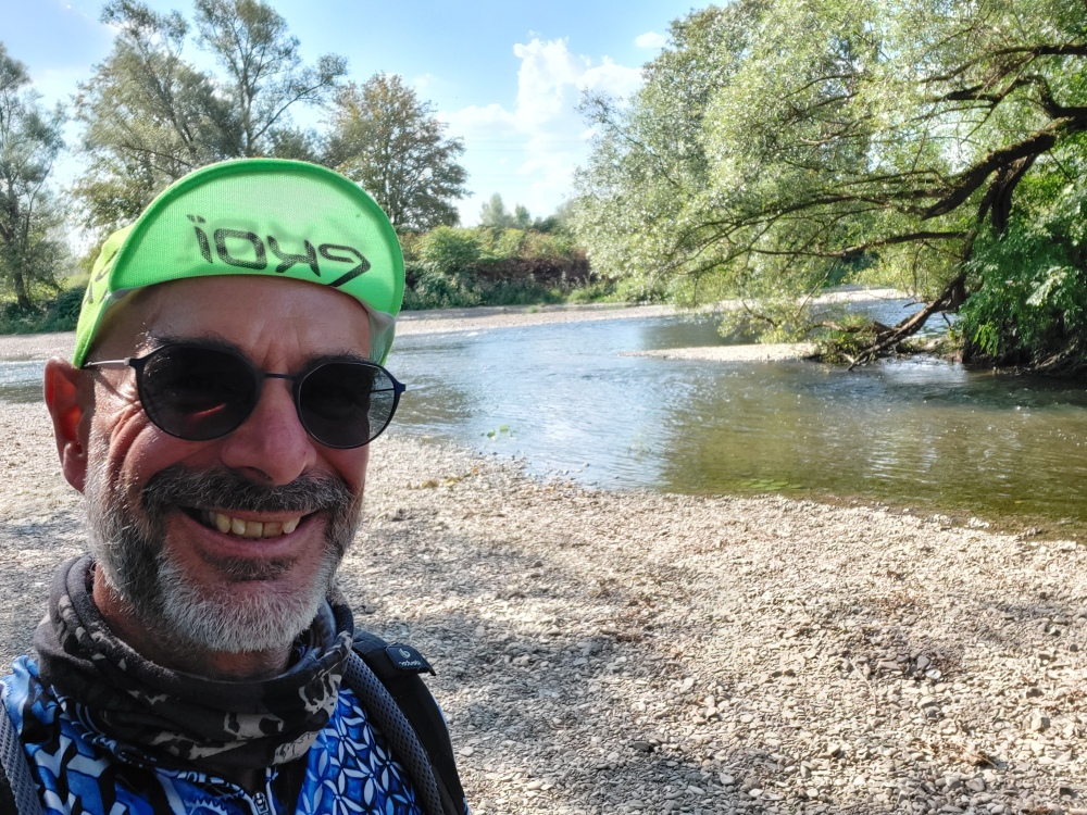Agger Sieg Mündung Zugang Ufer