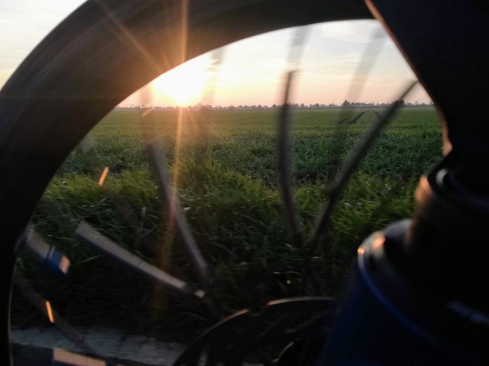 #HPVelotechnik #Skorpion #Romantik #Sonnenaufgang #landschaft #Vorderrad #Speiche