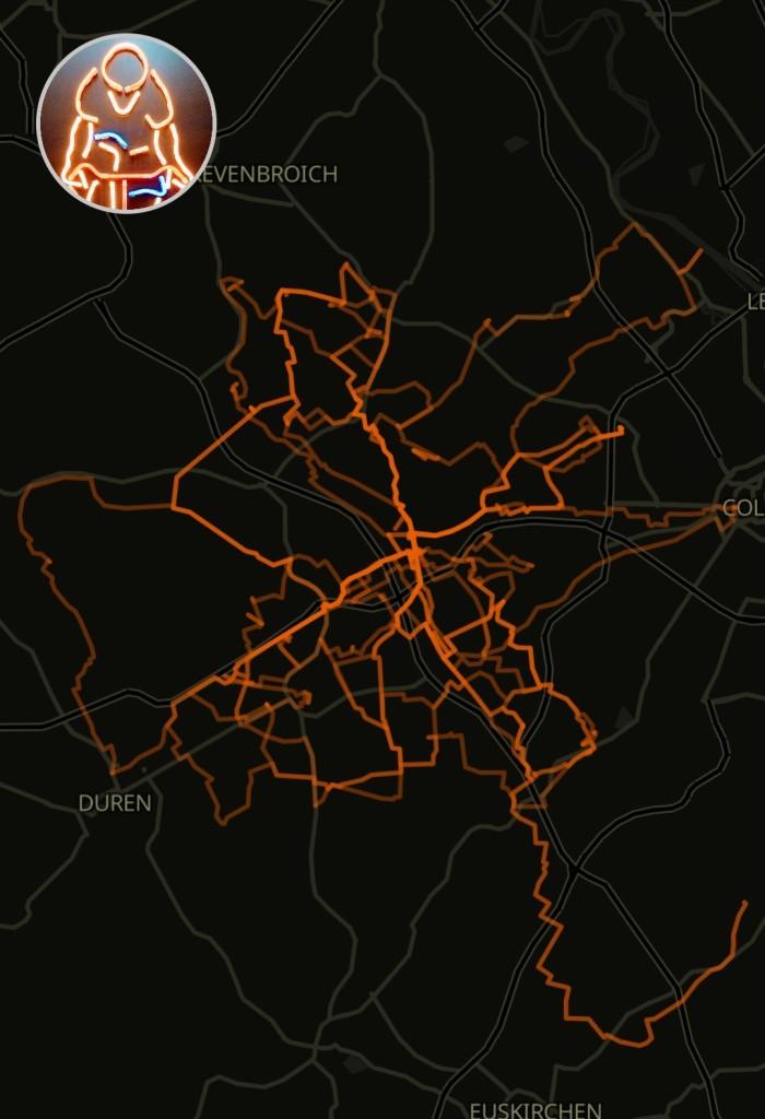 #Radfahren, #Training, #Tagesabschluss, #Kilometer, #Garmin, #GoogleDrive, #Aufzeichnung, #GarminConnect,#Naviki,#Heatmap