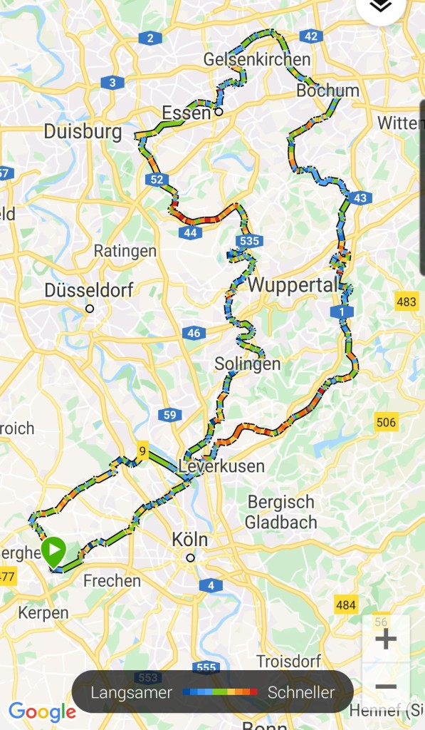 #SchwarzerBulle, #zusammen, #Bahntrassenradeln, #Ruhrgebiet, #zudritt, #gpx, #Garmin, #Oregon, #Connect, #Daten, #Statisitik,