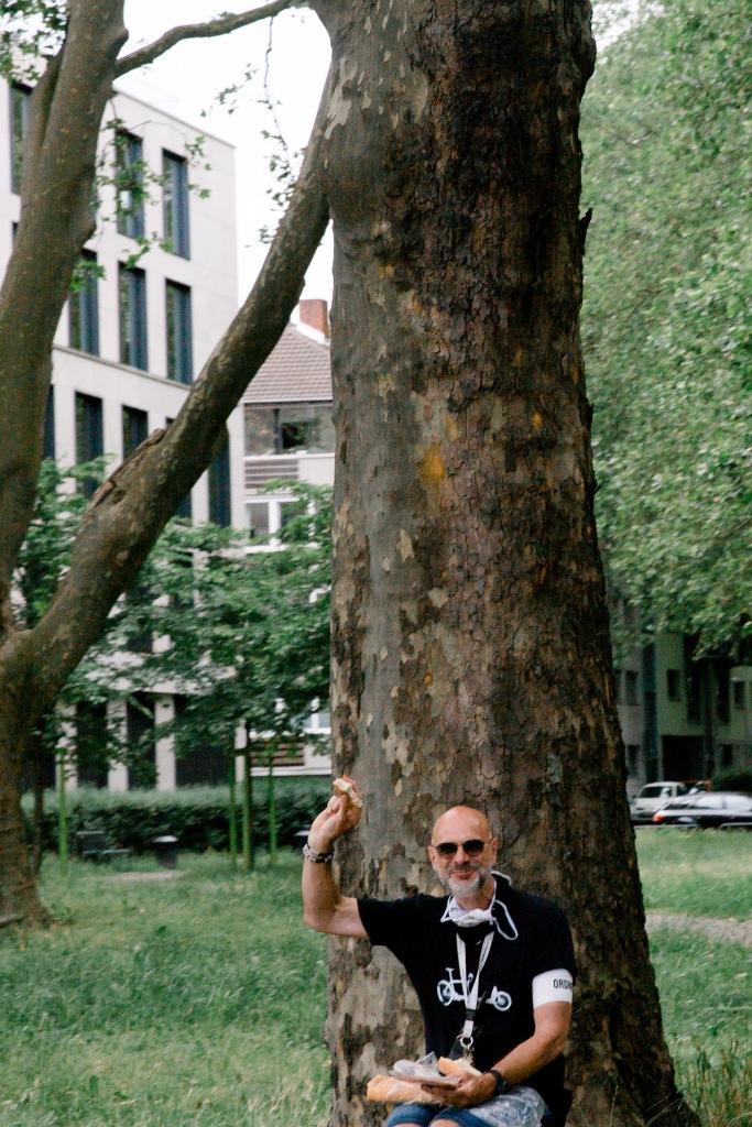 #Sternfahrt, #Köln, #Ordner, #Baum, #malwasessen, #Pause