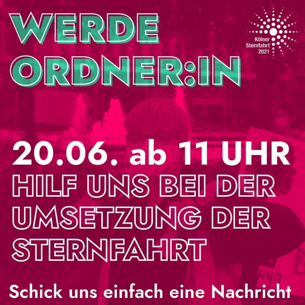 #OrdnerIn, #Button, #Sternfahrt, #Köln, #Banner, #strassefairteilen, #autofrei, #rheinufer, #rheinuferstraße, #qrcode, #spende,