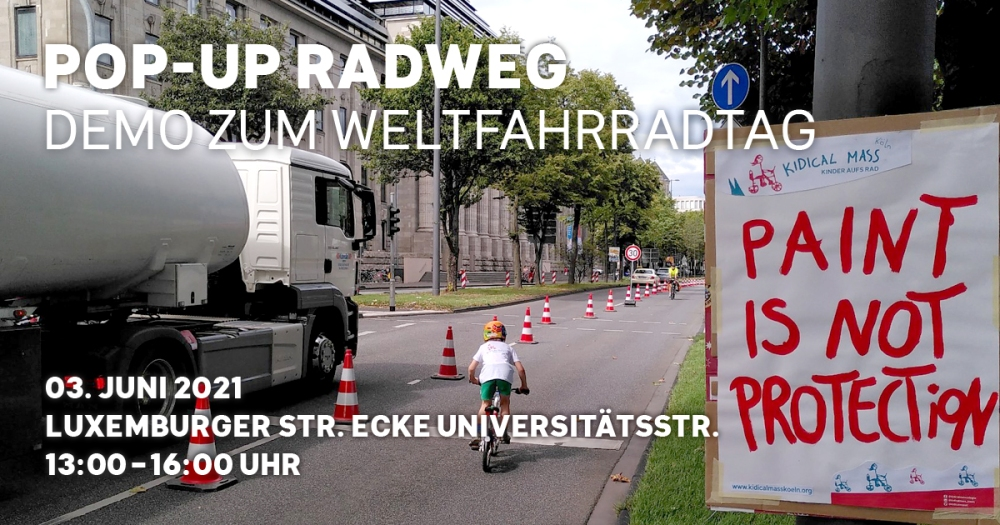 #Weltfahrradtag, #WorldBi#Weltfahrradtag, #WorldBicycleDay, #Köln, #Popup, #Bikelane, #LuxemburgerStraße, #Kidicalmass, #kidicalmassköln,cycleDay, #Köln, #Popup, #Bikelane, #LuxemburgerStraße,