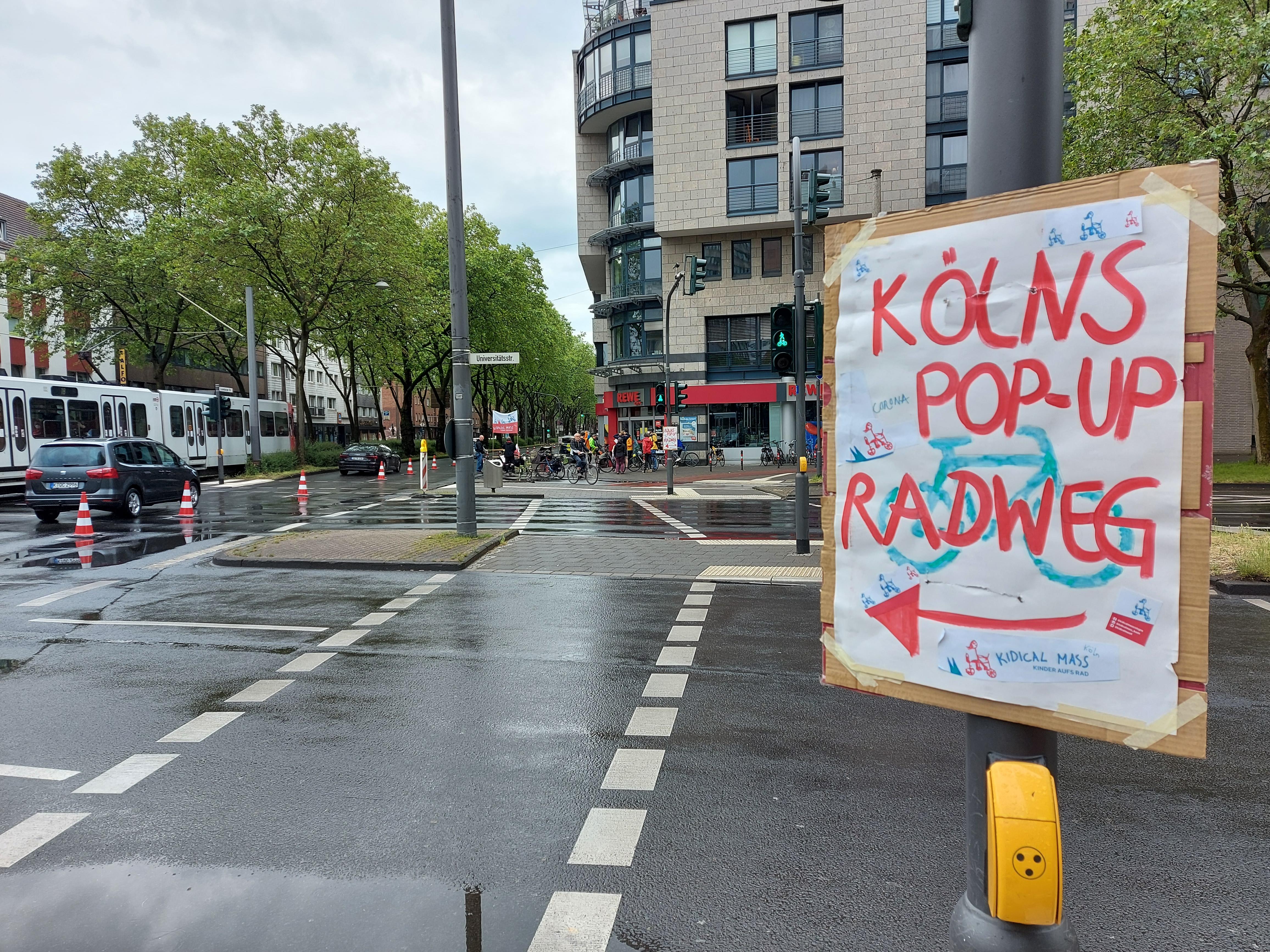 #gehzeug, #greenpeace, #weltfahrradtag, #worldbicycleday, #popupbikelane, #köln, #luxemburgerstraße, #bauhof,